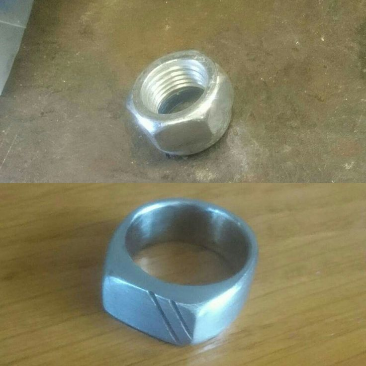 Homade ring from m16 hex nut (size 18'5 mm) homemade