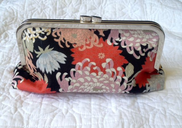 gorgeous one off Japanese kimono fabric clutch bag - now sold but check out my Facebook page for more items like this