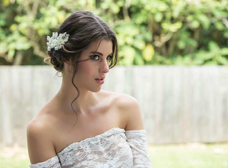 Boho wedding hair, makeup and photography by flurogreystudio.co.nz