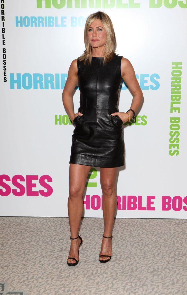Pin for Later: Jennifer Aniston Est la Reine Incontestée du Total Look Noir …