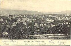 Postcard of Torrington, Connecticut, sent in 1906