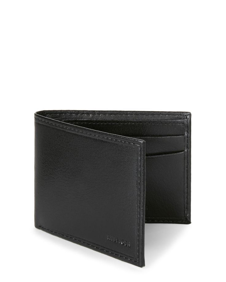 Tommy Bahama Relax Black Maddox Billfold Wallet & Money Clip Set