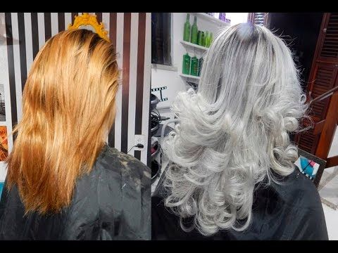 GRANNY HAIR | Como pintar o cabelo de cinza - Camila Carregal - YouTube