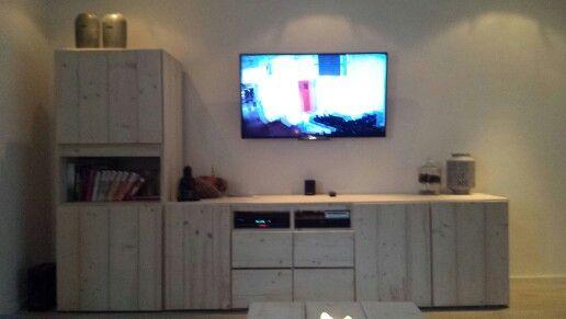 #steigerhout #tv meubel