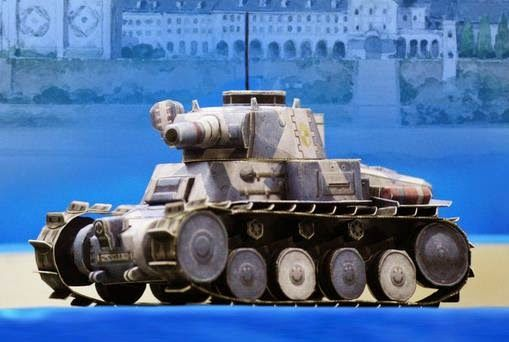 Comissioned by Sega, the Japanese designer Chokipeta Kobo created these four nice paper models of tanks from Valkyria Chronicles II videogame. They are great for Dioramas, RPG and Wargames.  r