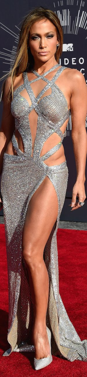 Jennifer Lopez in a Charbel Zoe Dress   2014 MTV Music Awards   The House of Beccaria~