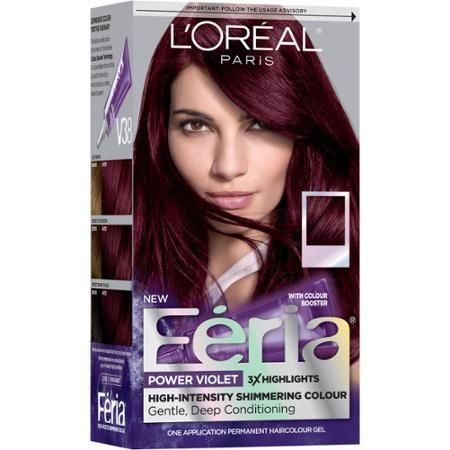 L'Oreal Paris Feria Power Violet Hair Color Gel Kit, V38 Intense Deep Violet