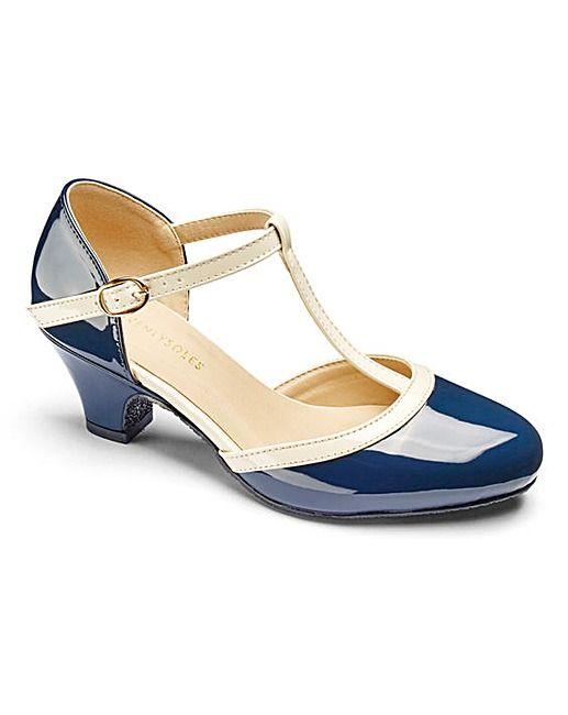 Heavenly Soles T Bar Shoes E Fit   Fifty Plus