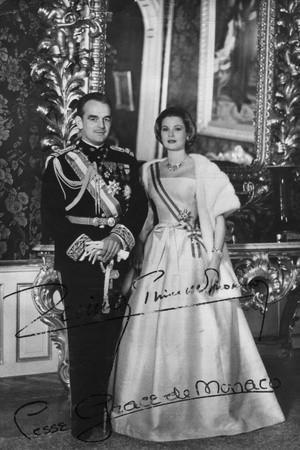 Prins Rainier III en prinses Grace van Monaco, 20th Century Fotoprint bij Art.com