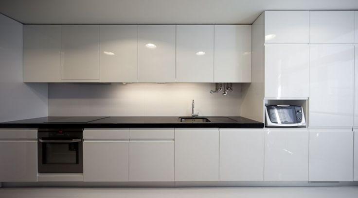Image of: Architecture Modern White Kitchen