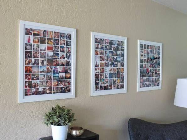 30+ Fotowände Und Fotocollagen Ideen   Mit Fotos Dekorieren