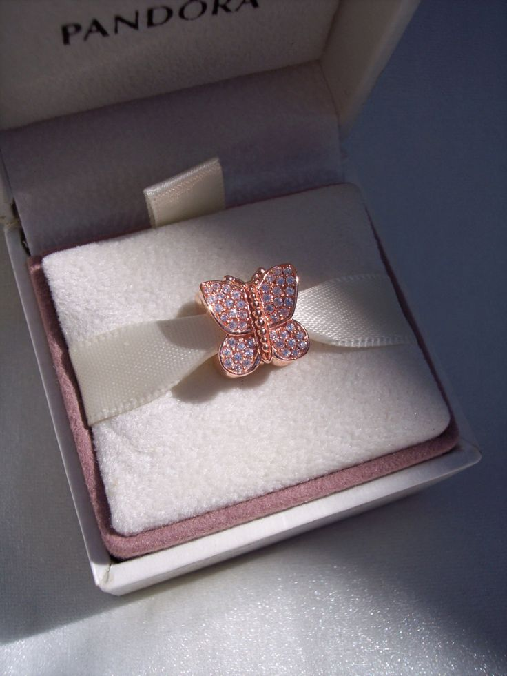 Pandora Sparkling Butterfly Rose High Fashion Rose Gold Collection Designer Bracelet Glam Charm FREE SHIPPING Gift Box Sold Separately by JEWELSELAGANT on Etsy