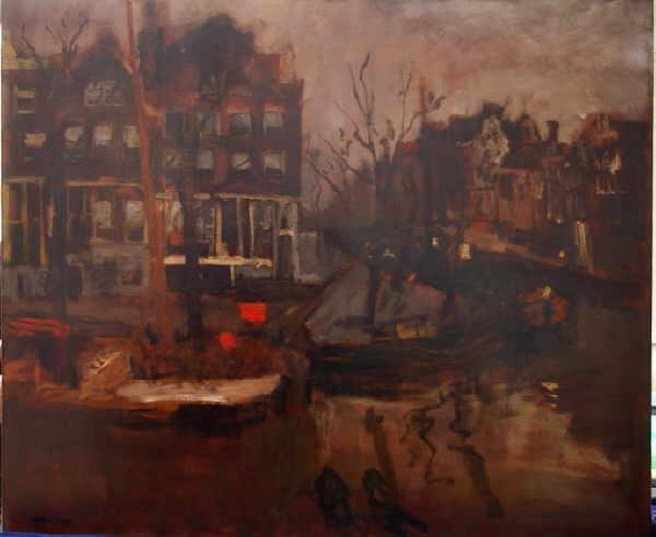 Brouwersgracht hoek Prinsegracht at Amsterdam - George Breitner