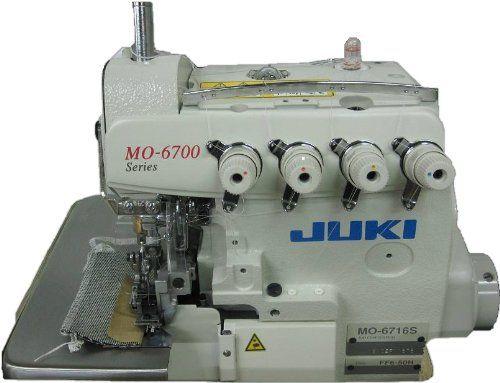 Juki MO-6716S Industrial 5-Thread Overlock Sewing Machine - http://www.sewingmachinereveiws.com/juki-mo-6716s-industrial-5-thread-overlock-sewing-machine/