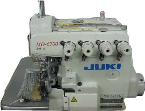 Juki MO-6716S Industrial 5-Thread Overlock Sewing Machine - http://www.sewingmachinereveiws.com/juki-mo-6716s-industrial-5-thread-overlock-sewing-machine/