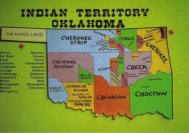 oklahoma indians   Oklahoma Indian Territory Map Postcard   Flickr - Photo Sharing!