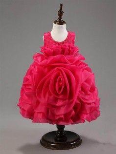 Hopscotch | Buy Rose Flower Dress - Fushia on Hopscotch.in in India