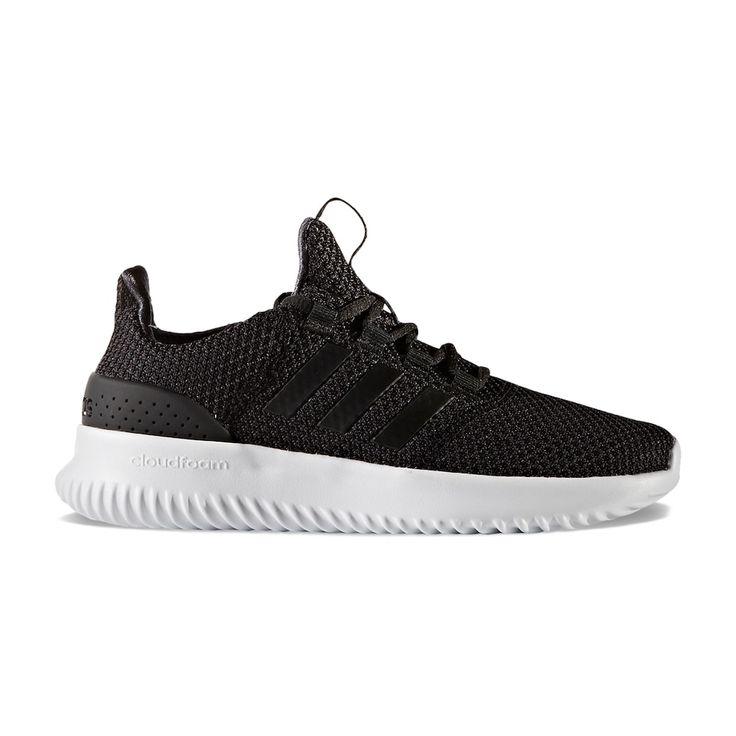 Adidas NEO Cloudfoam Ultimate Kids' Sneakers, Kids Unisex, Size: 12, Black