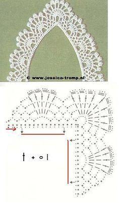 crochet - bicos/barrados com cantos - corners - Raissa Tavares - Picasa Web Albümleri