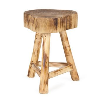 Occasional Furniture - Bedroom -Tree Stump Stool with Legs
