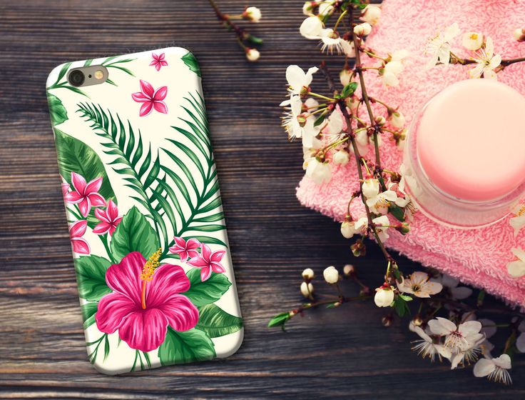 Samsung Cases, iPhone 6/6s/6 Plus/6s Plus/5s, LG Phone, Hibiscus Flower, Tropical Floral Pattern, monogram, phone case by SaidTheOwl on Etsy