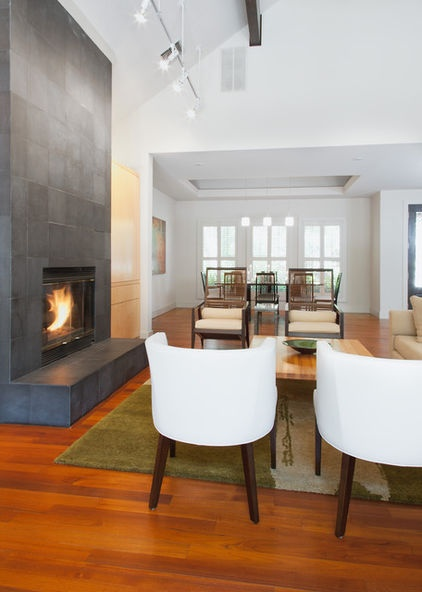 slate fireplace | modern living room by Kailey J. Flynn Photography