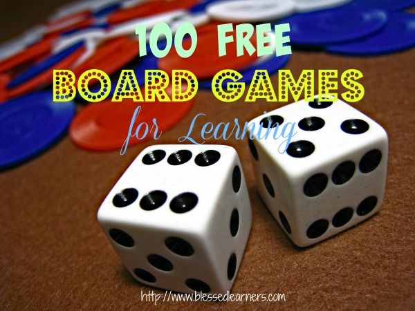Board Games can be a great tool to engage children in their learning. Here are 100 FREE Board Games for learning you might use with children.