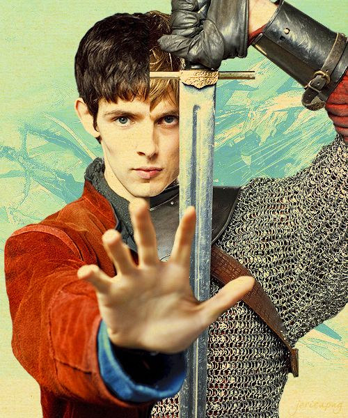 """One half cannot truly hate that which makes it whole."" AT FIRST I DIDN'T TELL THEM APART, I WAS LIKE WHY DOES MERLIN HAVE A SWORD? BC ITS SO PERFECTTTTTT"