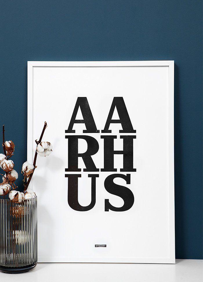 AARHUS - Letterpress poster
