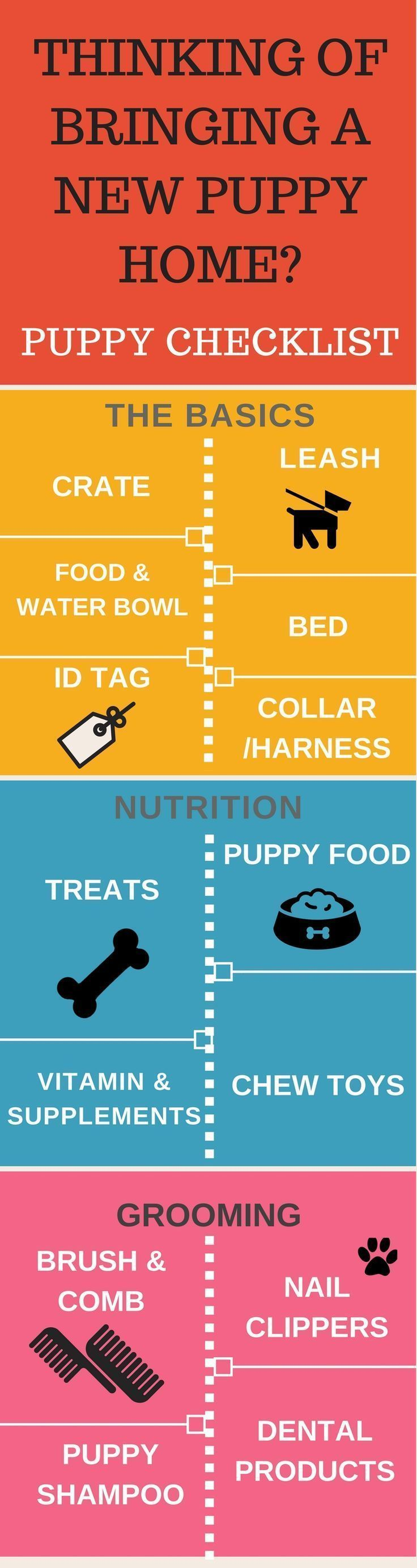 Thinking of bringing a new puppy home? There is a lot to do. Puppy Checklist can your life a lot easier. Puppy Training Tips | Puppy Infographics | Dog Infographics | Puppy Checklist | Crate | Puppy treats | Puppy Food |  https://hope-coming.com/ #puppytrainingcratetips #puppytrainingtips