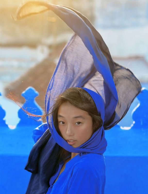 Shine by Three's Margaret Zhang in Blue Equipment.