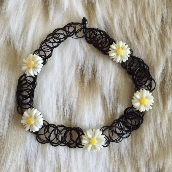 Daisy Tattoo Choker Daisy Tattoo Choker • 90s fashion • Rave wear Brandy Melville Jewelry Necklaces