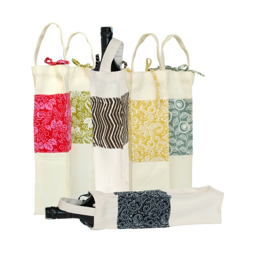 Canvas Wine Gift Bags Set  www.sevencolonial.com