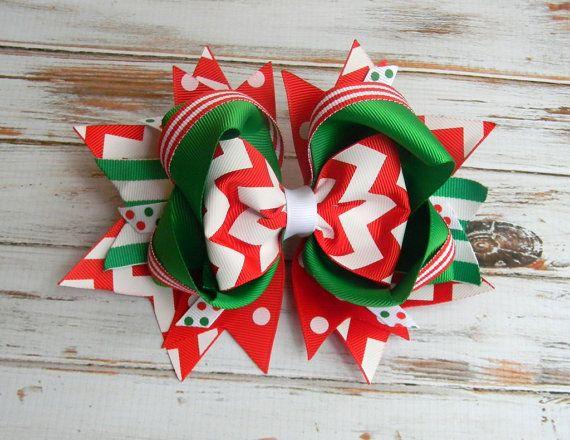 Arco del pelo de Navidad Navidad Regalo pinza por PoshPrincessBows1