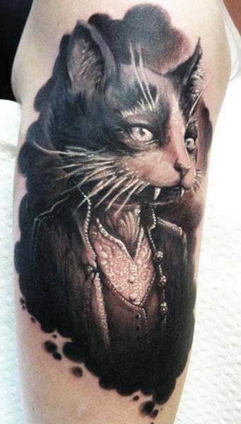 Ahhhhmazing Cat tattoo