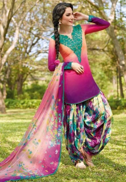 Utsav Fashion Designer Patiala Salwar Kameez Trends 2014. - I keep seeing this. I love it and have no idea why, lol.
