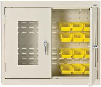 H Clear View Bin Wall Cabinet In Putty Provides Full Visibility Of  Contents. It Includes Three Point Door Locking System. It Is A Commercial  General Purpose ...