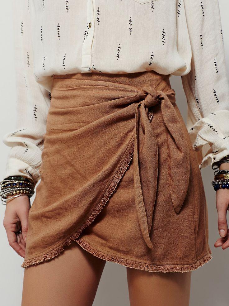 Free People Sydnie Wrap Skirt - http://www.popularaz.com/free-people-sydnie-wrap-skirt/