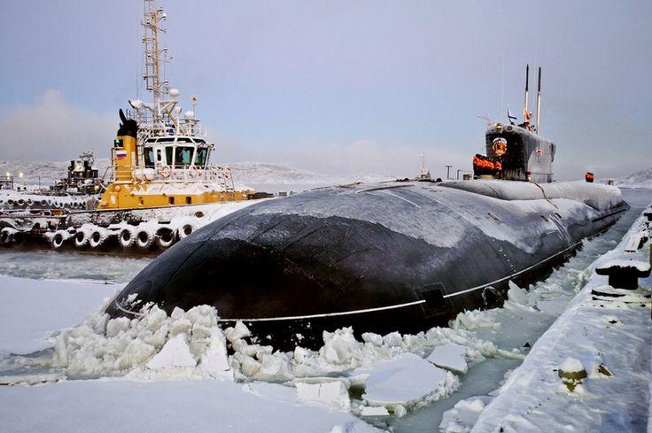 Russian submarine at Gadzhievo, Murmansk