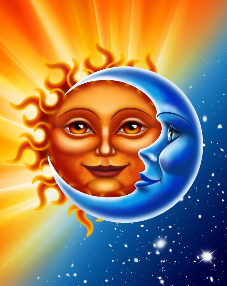 Sun & Moon (54x68) Beach blanket