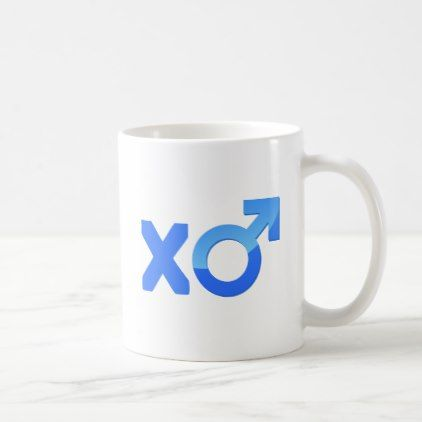 XO  Mars Symbol Blue Coffee Mug - couple love gifts present idea