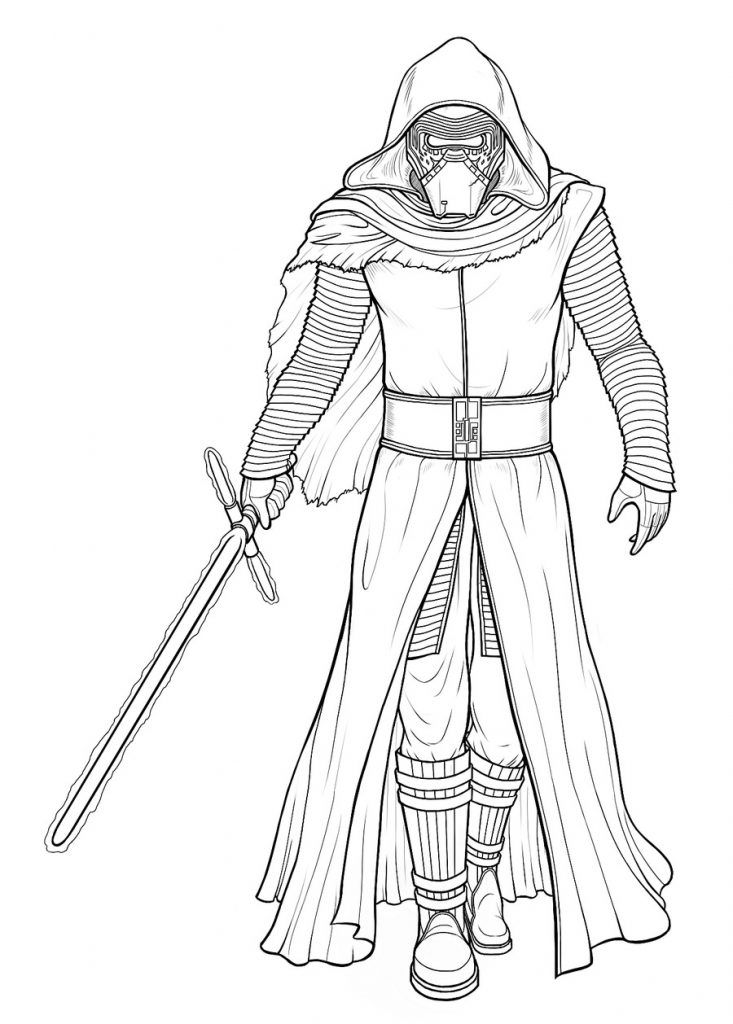 Kylo Ren Coloring Pages Star Wars Drawings Star Wars Coloring