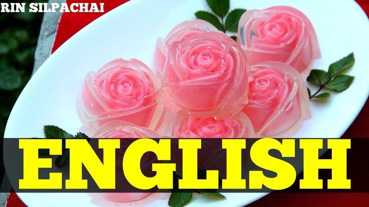 How to make Thai Rose Jelly for Valentine's Day | วุ้นกุหลาบแก้ว (Englis...