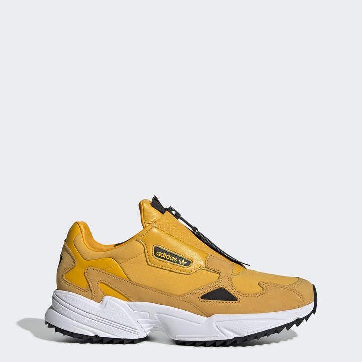 adidas Falcon Zip Shoes | Adidas falcon, Yellow adidas, Shoes