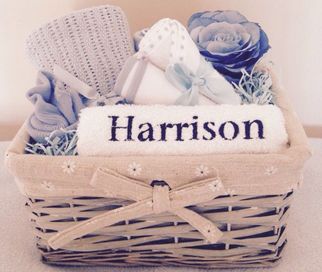 Personalised Baby Boy Gift Basket - Buy Today at www.littlelovesgiftbaskets.bigcartel.com