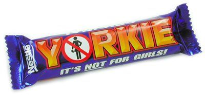 It's not for girls!  That's what Yorkie say because their chocolate is no chunky and manly.  However, if any girls do want this chocolate bar we'll sell you one.