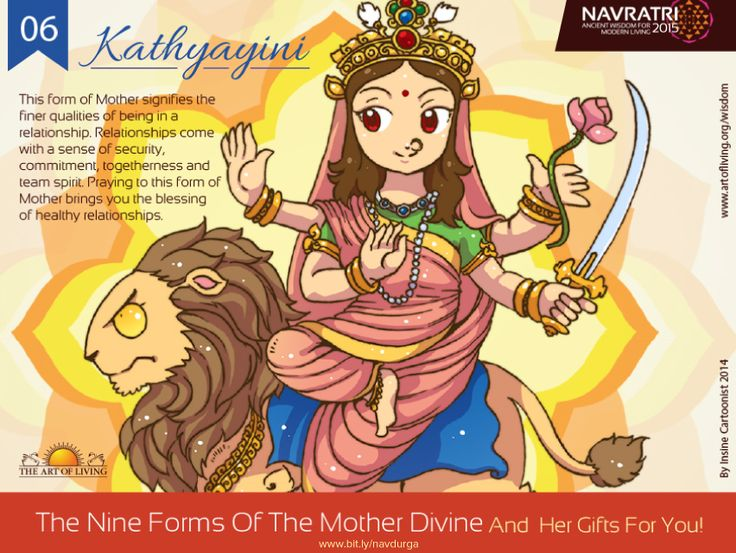 #Navratri Day 6 : Kathyayini #Praying to this form of #Divine #Mother brings you…