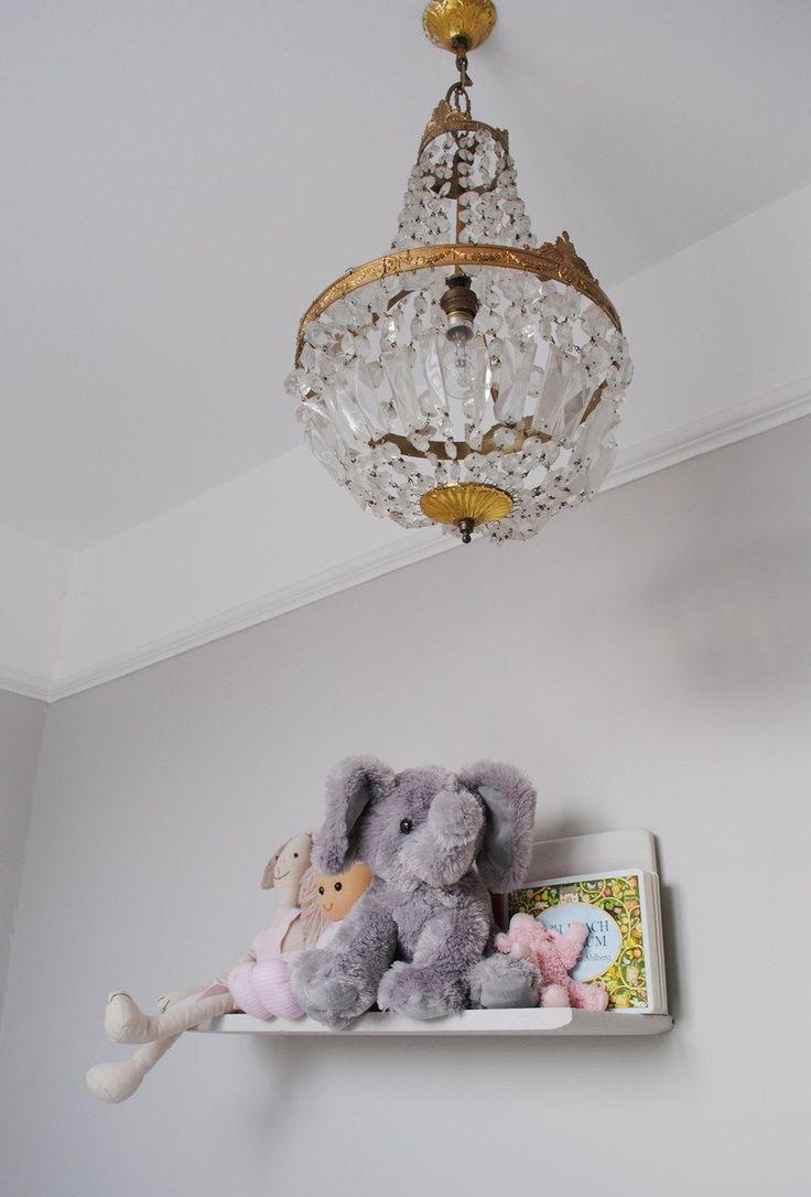 Katharine & James' Glamorous Family Home in London House Tour   Apartment Therapy (Child's room/Farrow & Ball cornforth white)