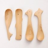 Green Wooden Spoon, Duck / Giraffe / Whale / Hippo 4 Select