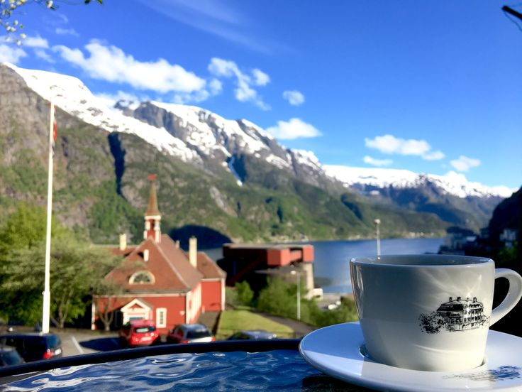 Going to Trolltunga? Grab a coffe at Tyssedal Hotel before your trip and enjoy a wonderful view of Hardangerfjord. #Trolltunga #Hardangerfjord #Tyssedal